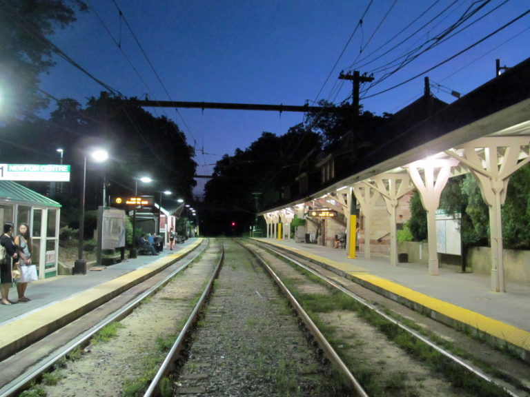 Newton center train station