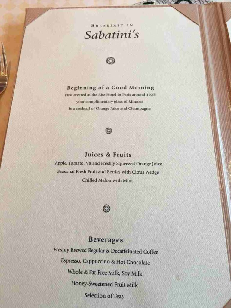 Meadowood restaurant menu