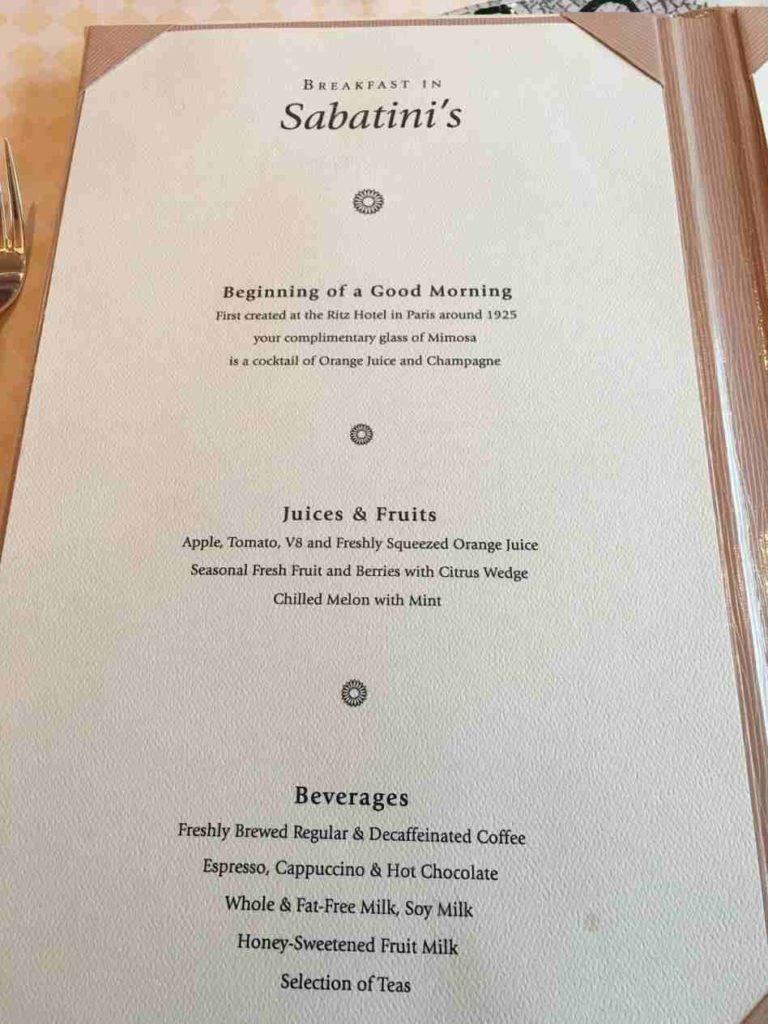 Meadowood restaurant menu